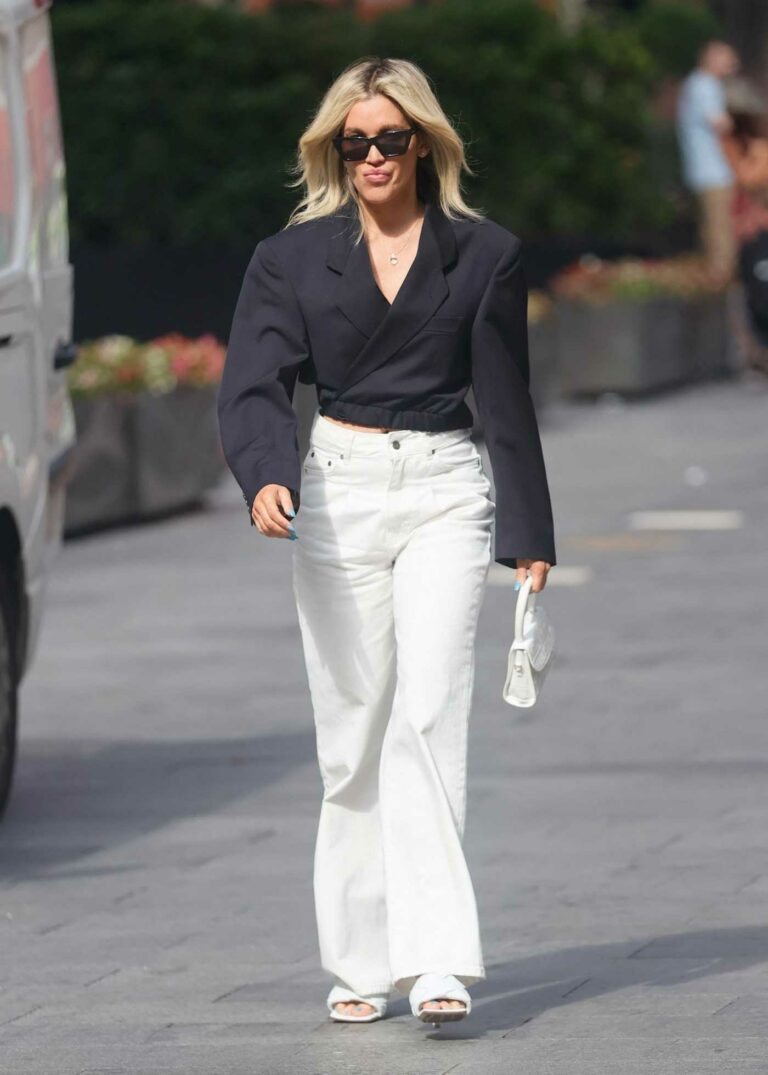 Ashley Roberts in a White Pants