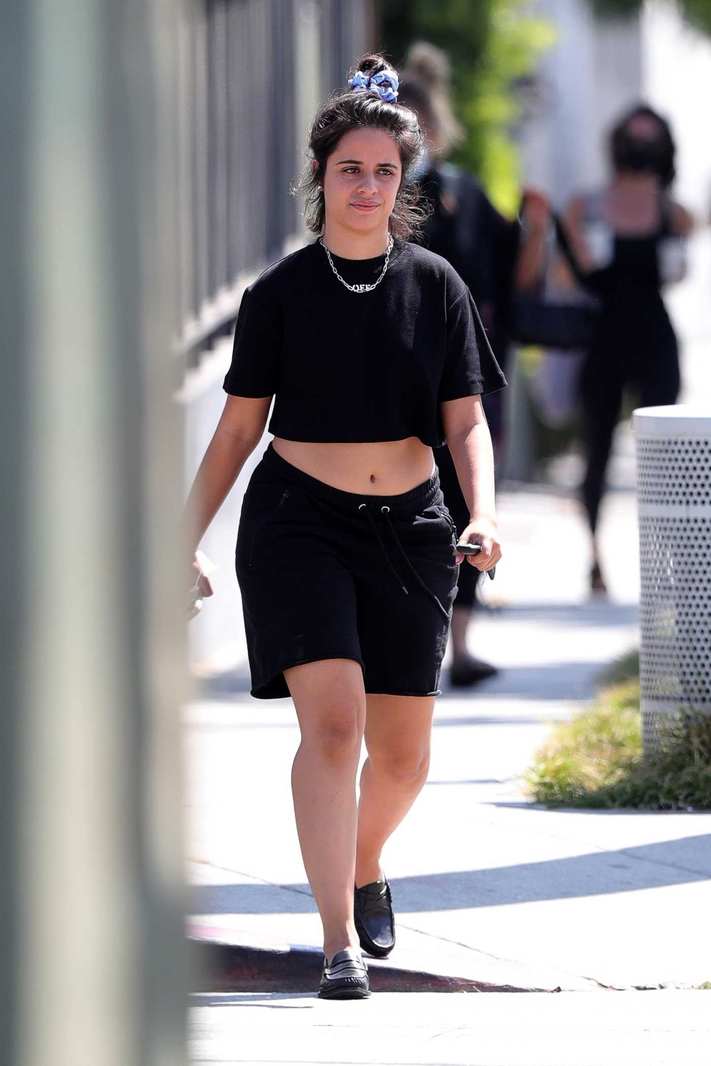 Camila Cabello in a Black Shorts Was Seen Out in Los Angeles 08/26/2021