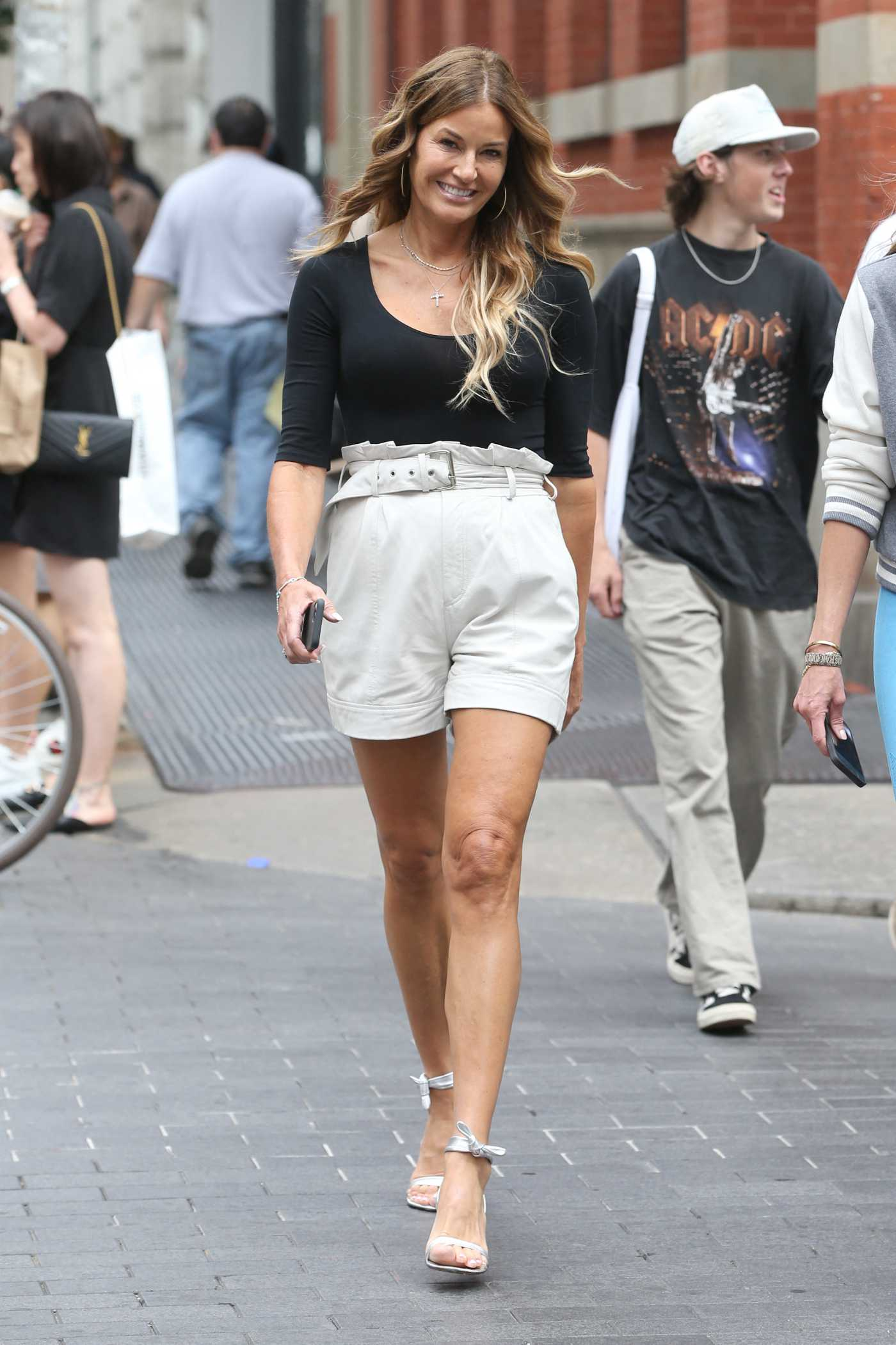 Kelly Bensimon in a Ceam Shorts Was Seen Out in Soho in New York 08/04/2021