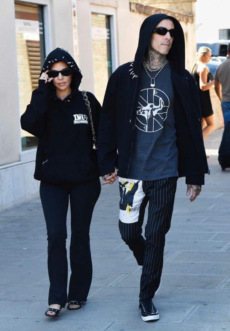 Kourtney Kardashian in a Black Hoodie