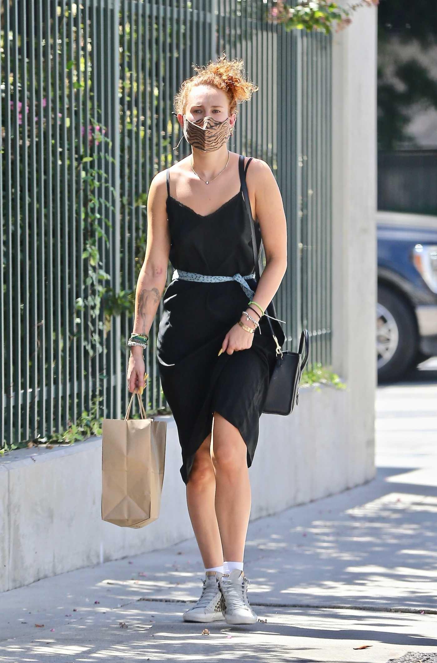 Rumer Willis in a Black Sundress Was Seen Out in Los Feliz 08/29/2021
