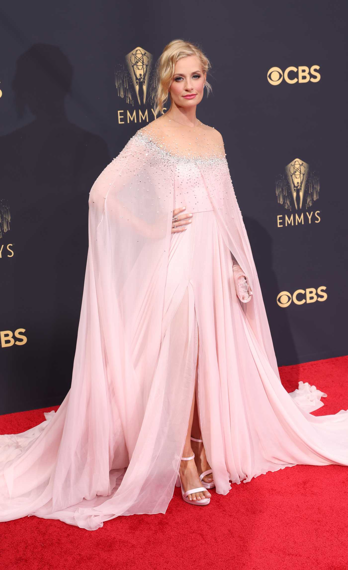 Beth Behrs Attends the 73rd Primetime Emmy Awards in Los Angeles 09/19/2021