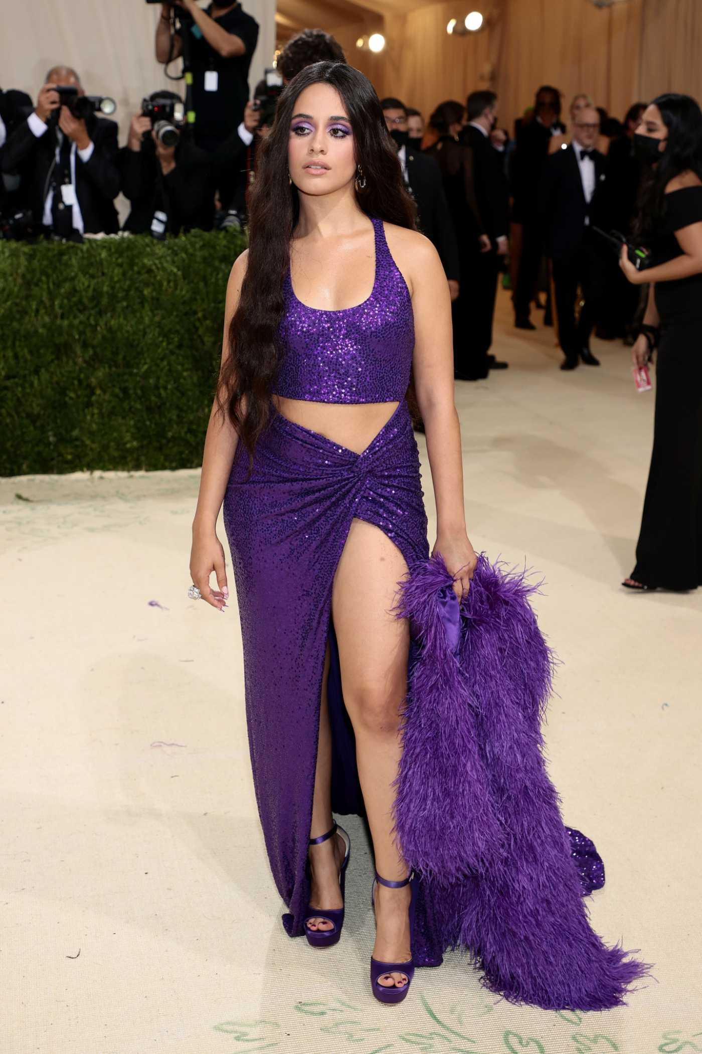 Camila Cabello Attends 2021 Met Gala In America: A Lexicon of Fashion at Metropolitan Museum of Art in New York City 09/13/2021