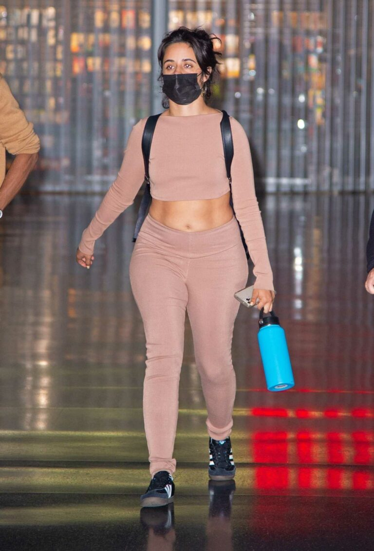 Camila Cabello in a Black Protective Mask