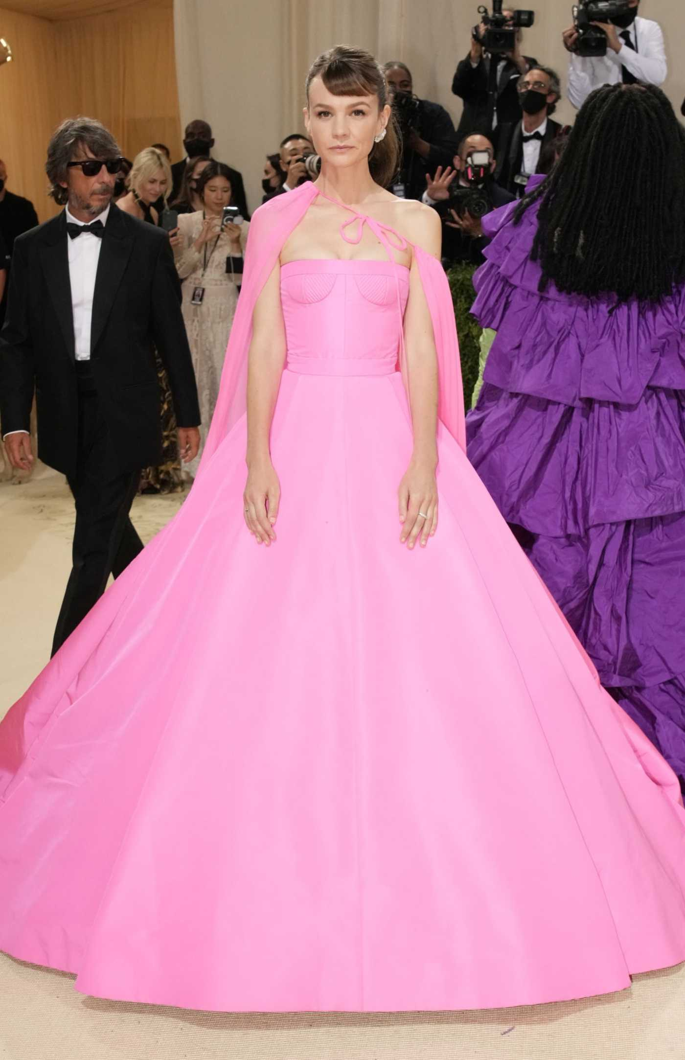 Carey Mulligan Attends 2021 Met Gala In America: A Lexicon of Fashion at Metropolitan Museum of Art in New York City 09/13/2021