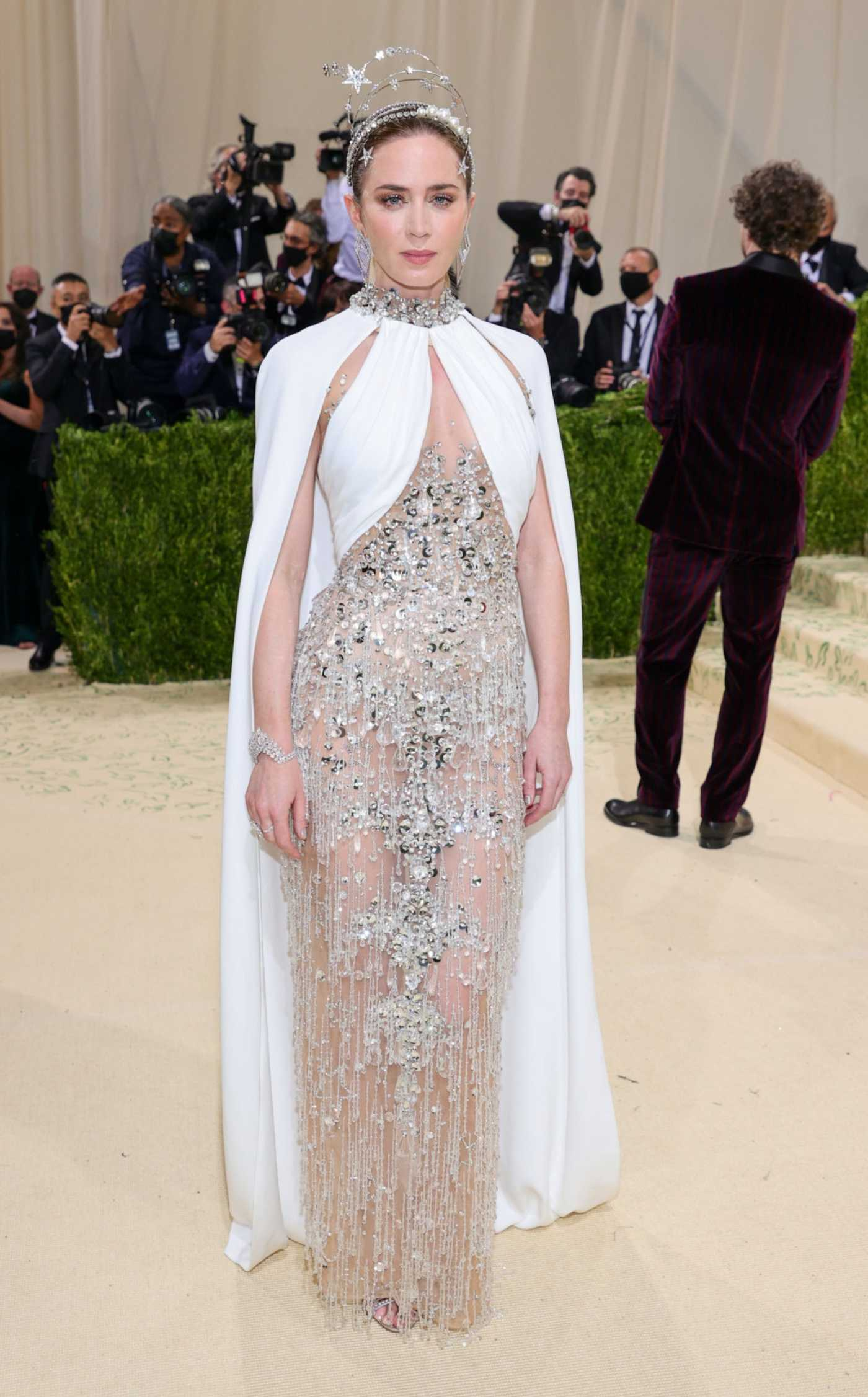 Emily Blunt Attends 2021 Met Gala In America: A Lexicon of Fashion at Metropolitan Museum of Art in New York City 09/13/2021