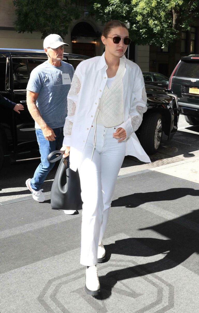 Gigi Hadid in a White Outfit