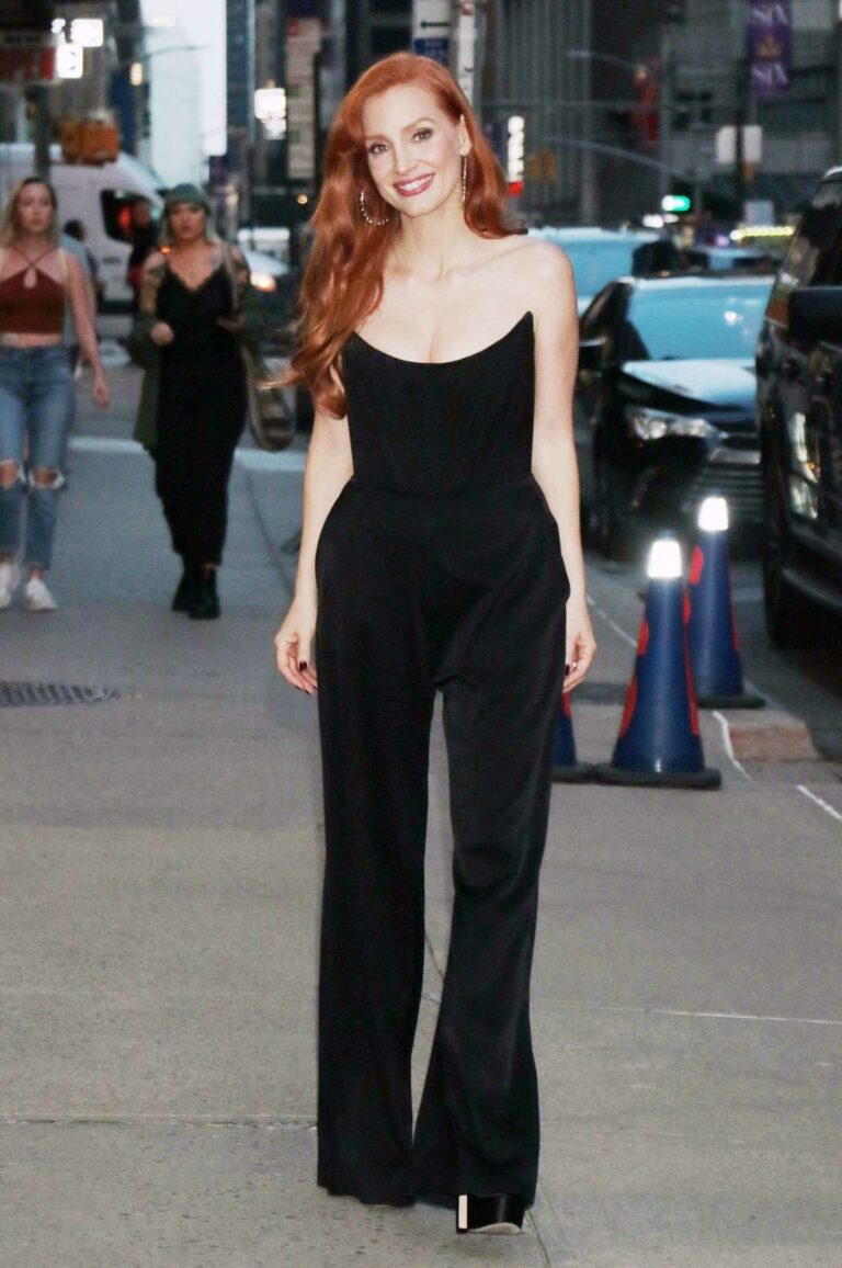 Jessica Chastain in a Black Outfit