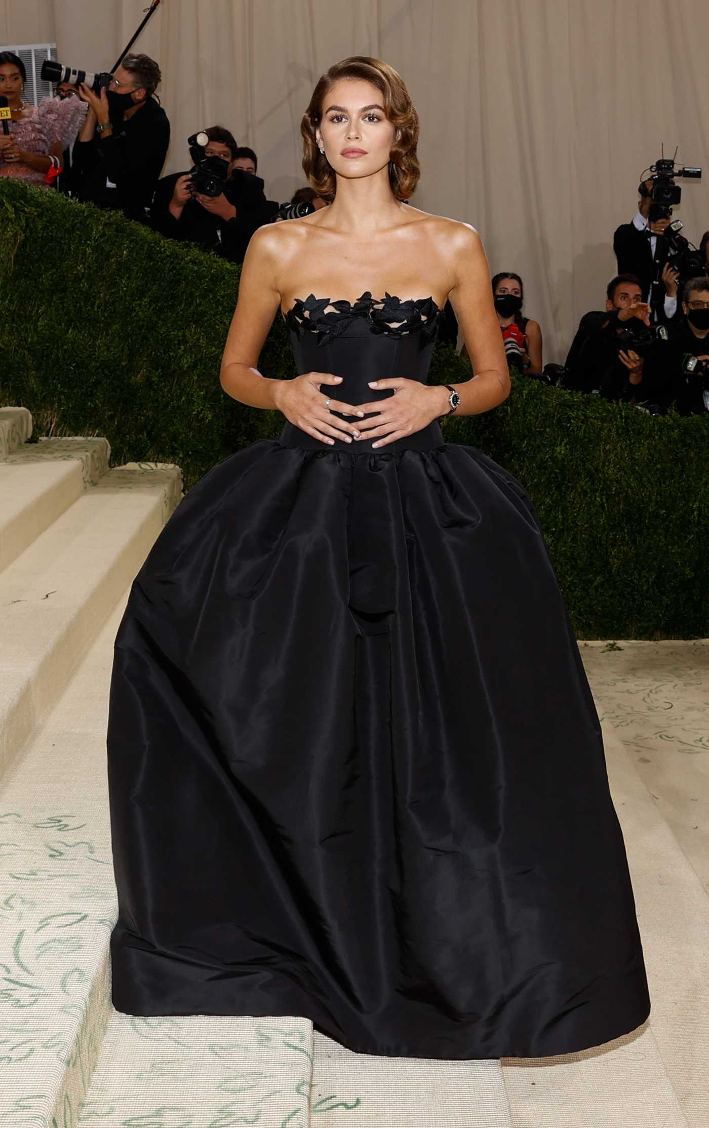 Kaia Gerber Attends 2021 Met Gala In America: A Lexicon of Fashion at Metropolitan Museum of Art in New York City 09/13/2021