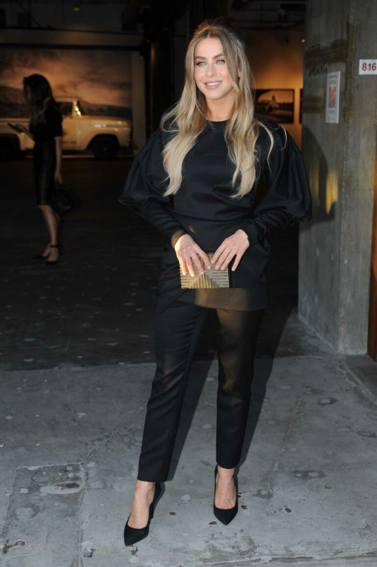 Julianne Hough in a Black Outfit