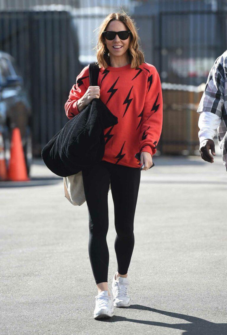 Melanie Chisholm in a Red Sweatshirt