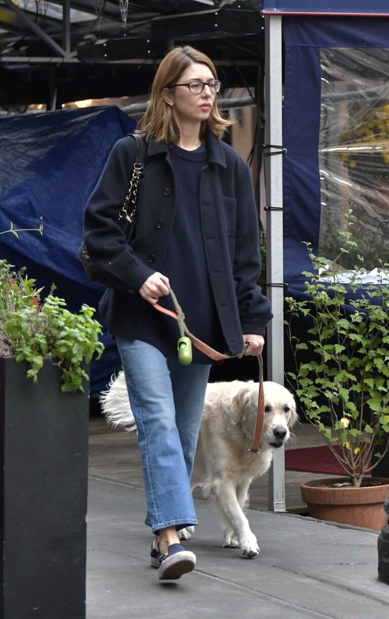 Sofia Coppola in a Blue Jeans