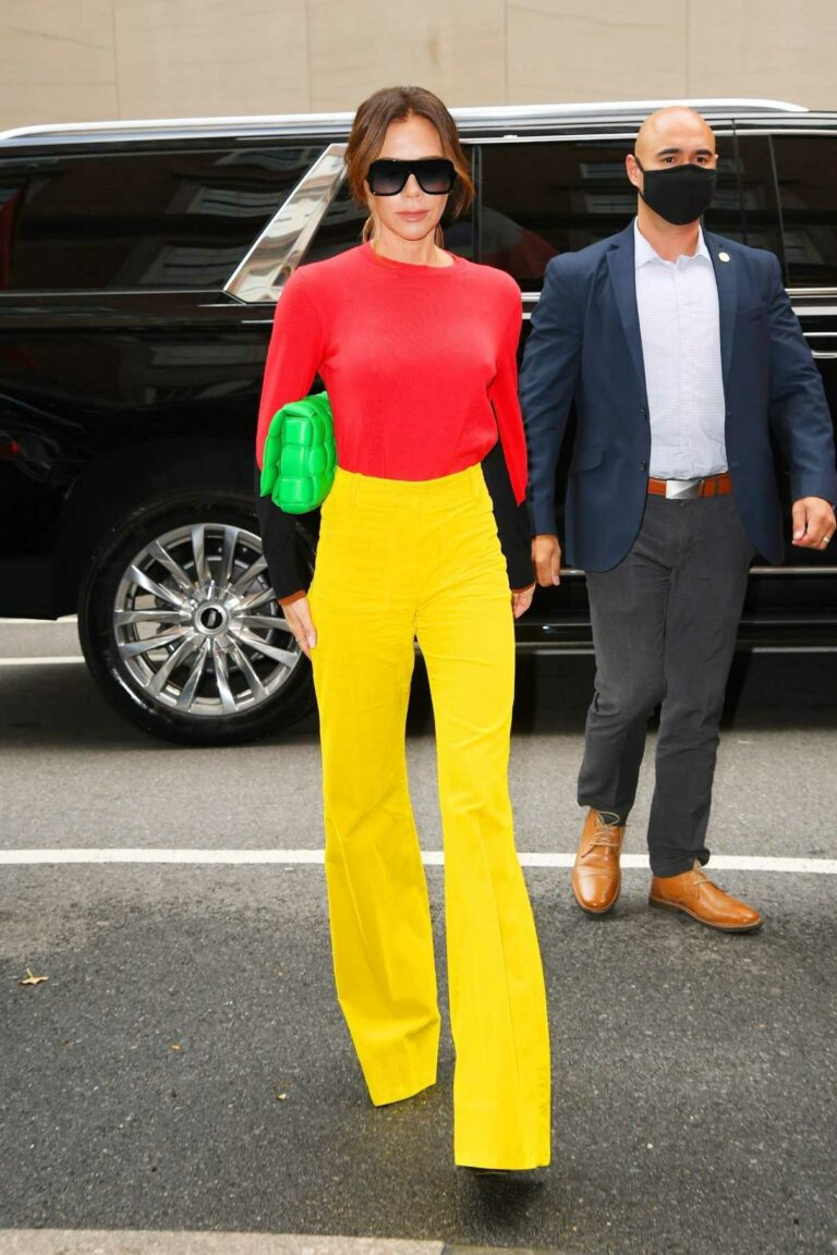 Victoria Beckham in a Yellow Pants