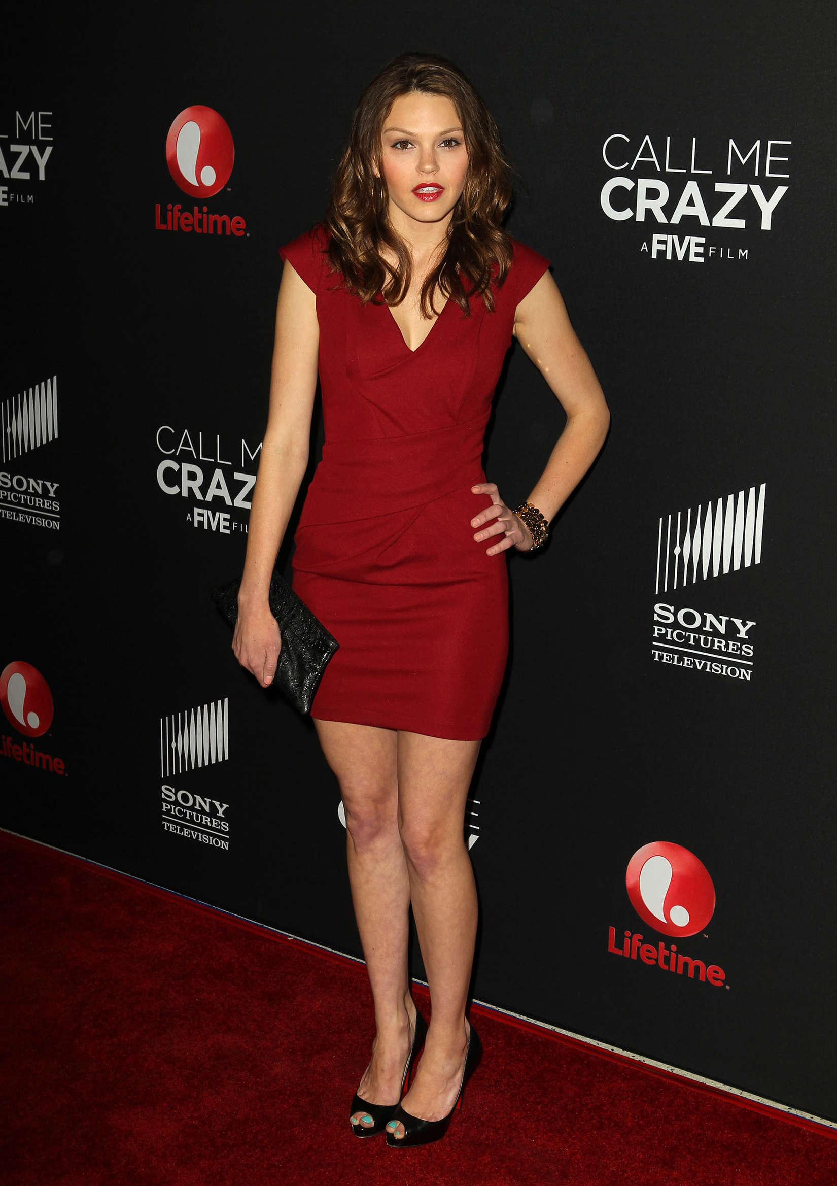 Aimee Teegarden at Call Me Crazy A Five Film Premiere in West Hollywood