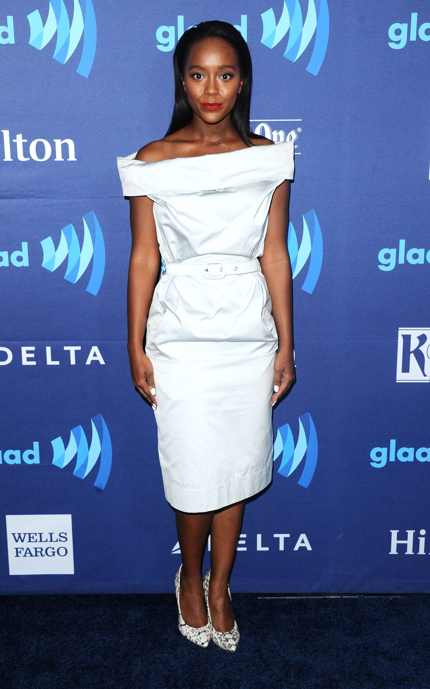 Aja Naomi King Annual GLAAD Media Awards in Beverly Hills