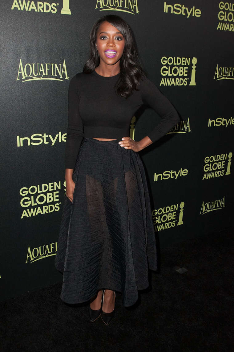 Aja Naomi King HFPA InStyle Celebrate Golden Globe Award Season in West Hollywood