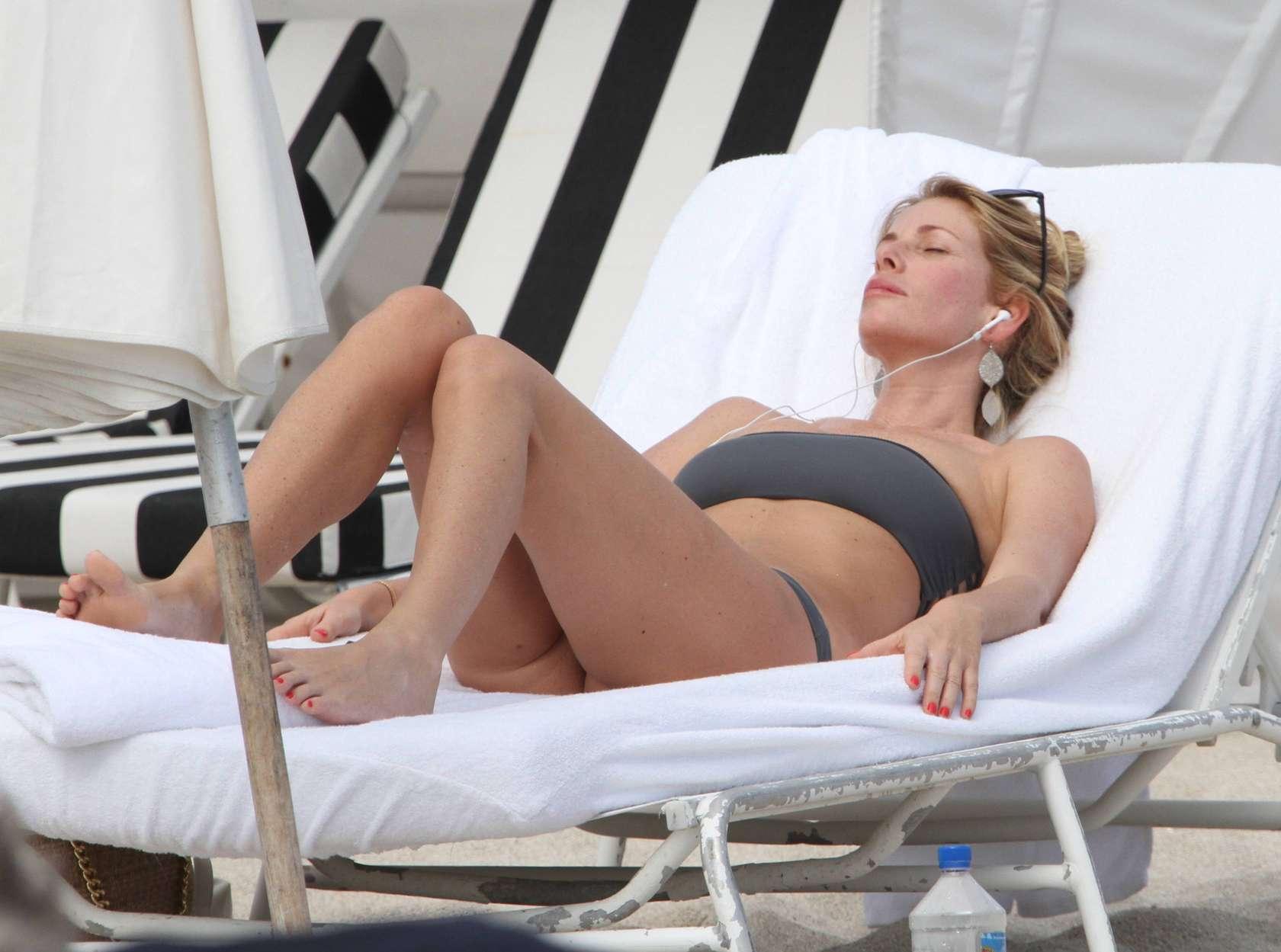 Alessia Marcuzzi Bikini candids in Miami