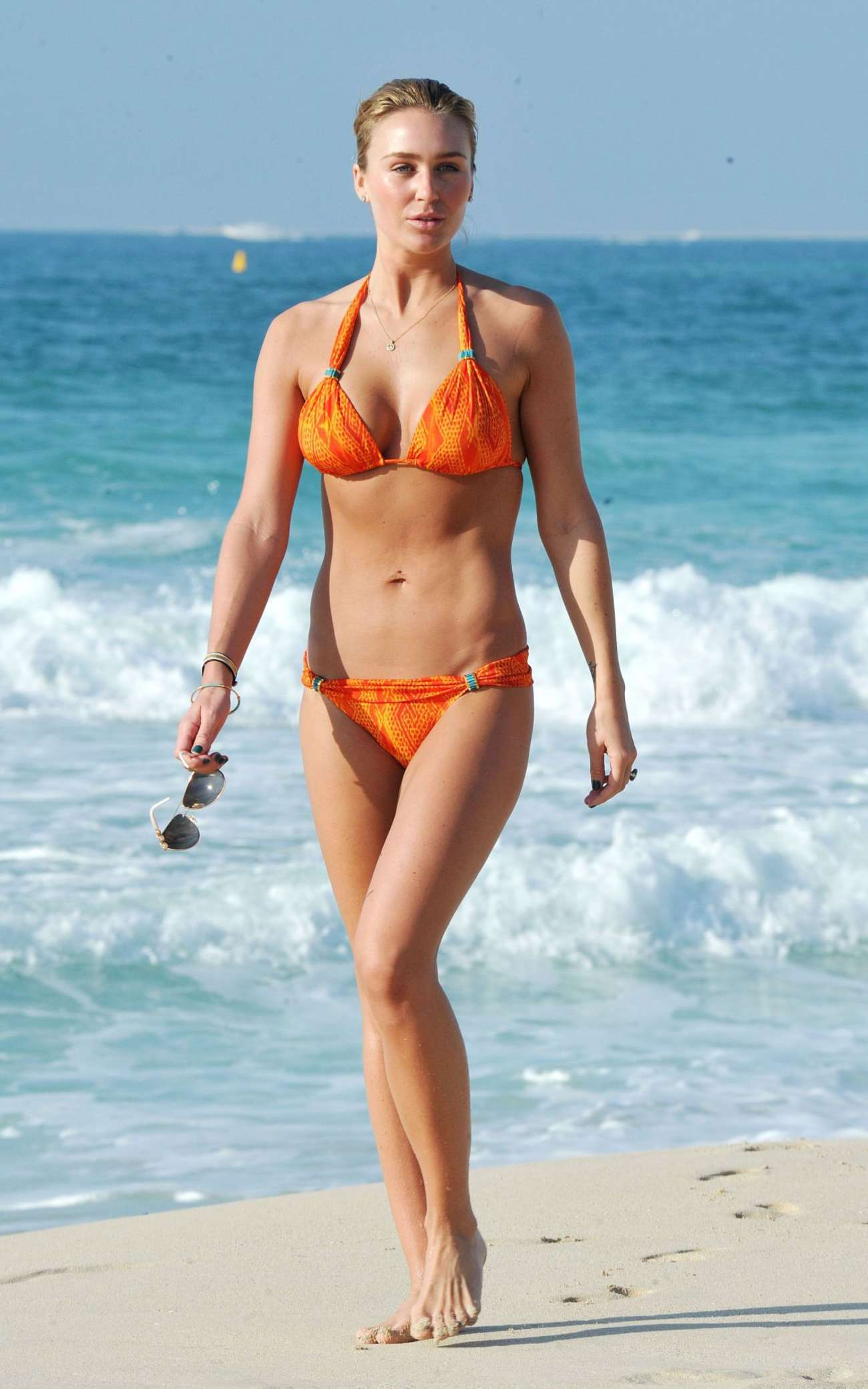 Alex Gerrard Wearing Bikini at a Beach in Dubai