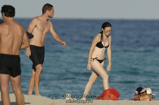 Alexis Bledel Wearing a Bikini at the Beach