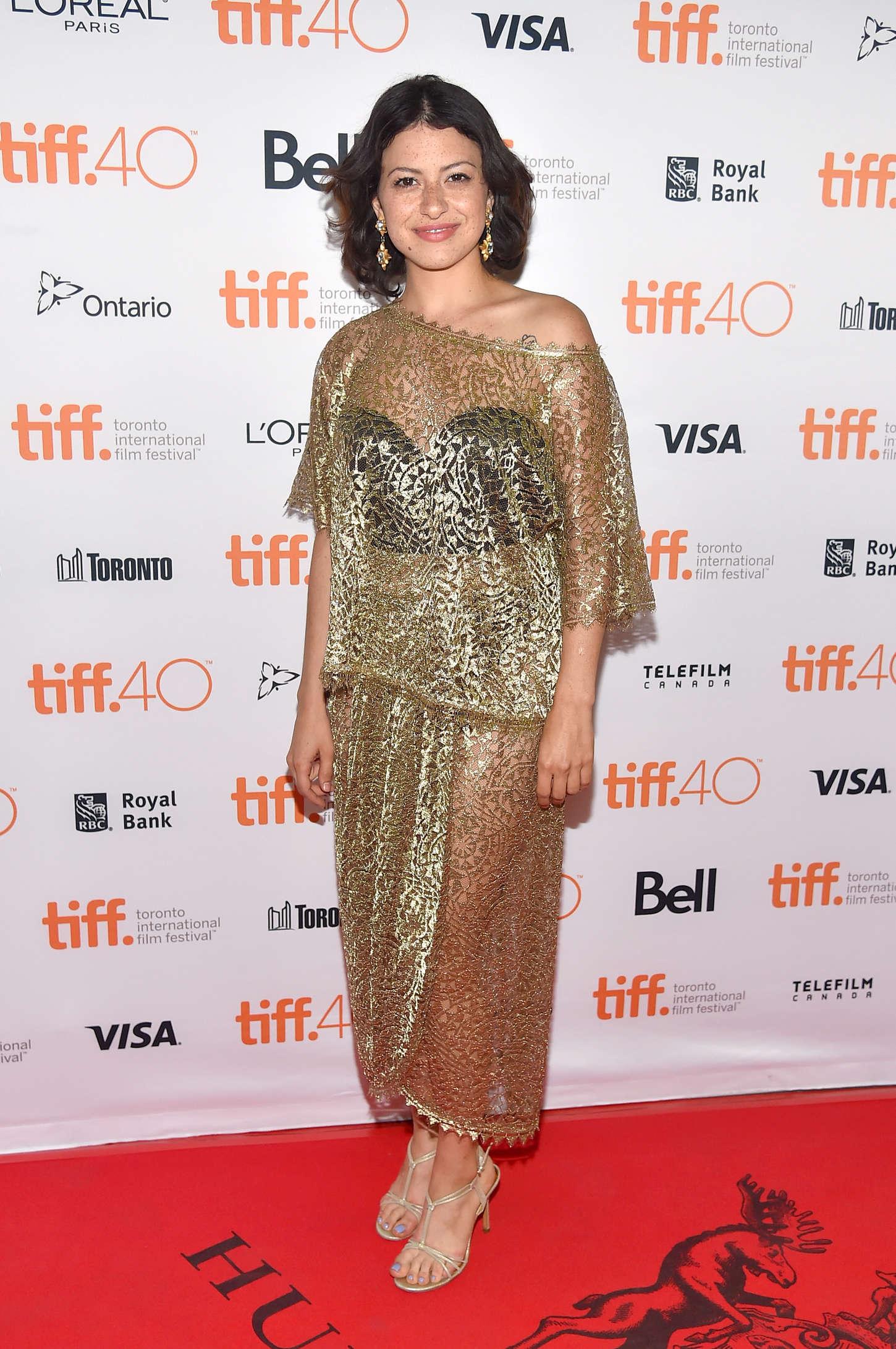 Alia Shawkat The Chickening Premiere at TIFF in Toronto