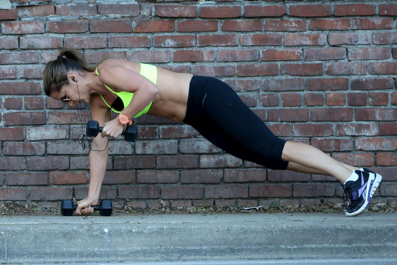 Amanda Byram get in a workout on Santa Monica