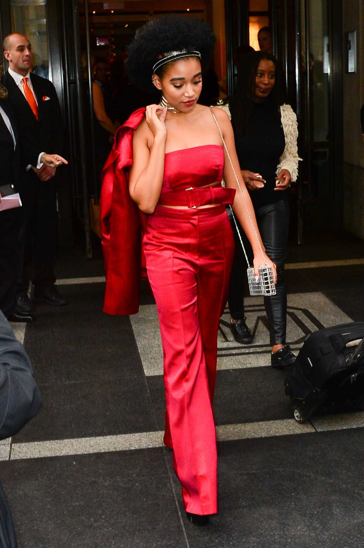 Amandla Stenberg Arriving at Met Gala in New York