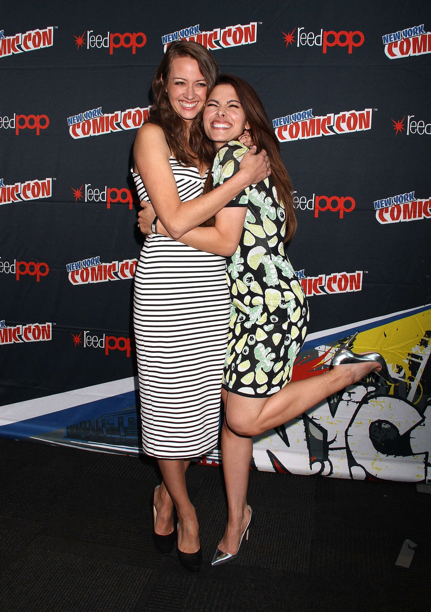Amy Acker Promoting Person of Interest at New York Comic-Con in New York