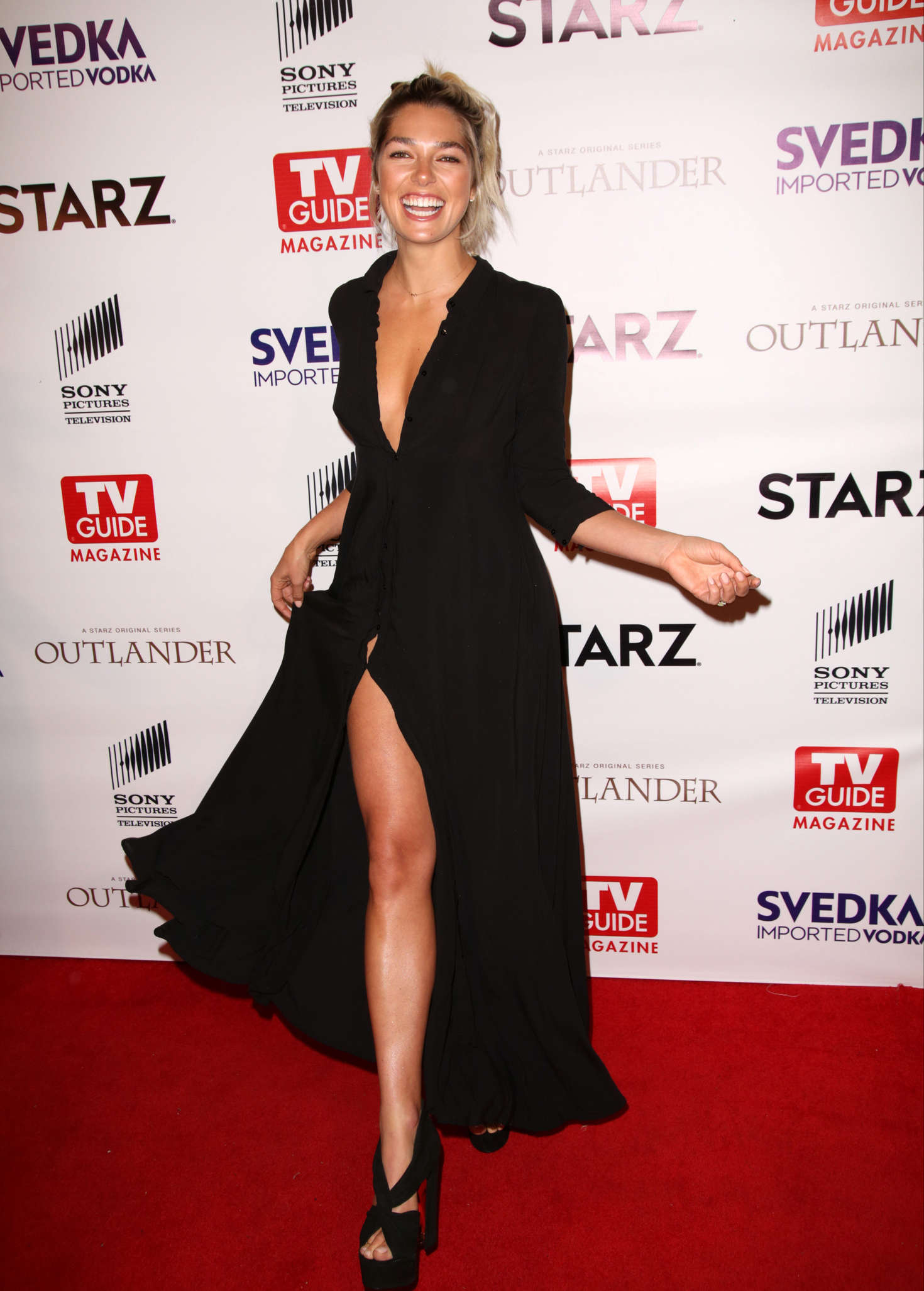 Ashley Hart TV Guide Magazine and STARZ Celebration of OUTLANDER in West Hollywood