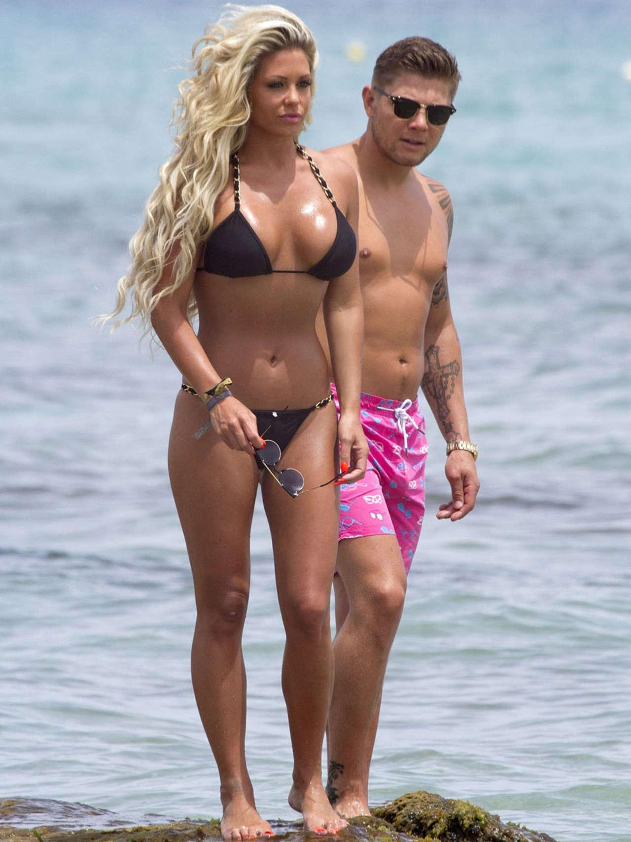 Bianca Gascoigne Bikini Candids in Ibiza