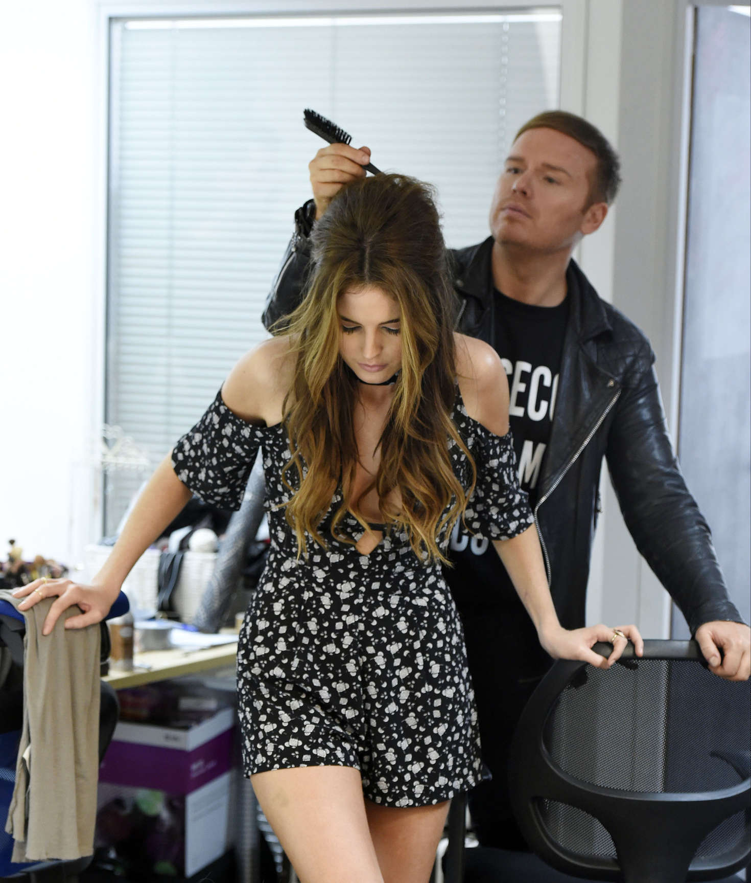 Binky Felstead on Photoshoot for her new fashion range In The Style in Manchester