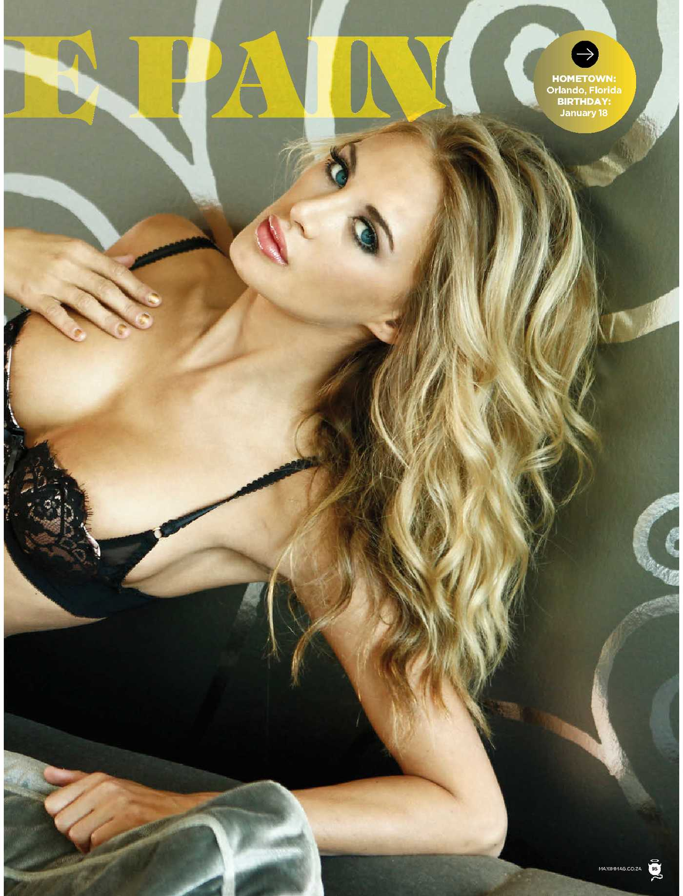 Brittany Cole Maxim South Africa Magazine
