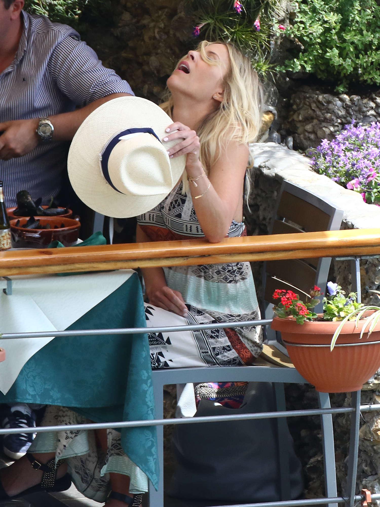 Brittany Daniel Bikini Candids in Portofino