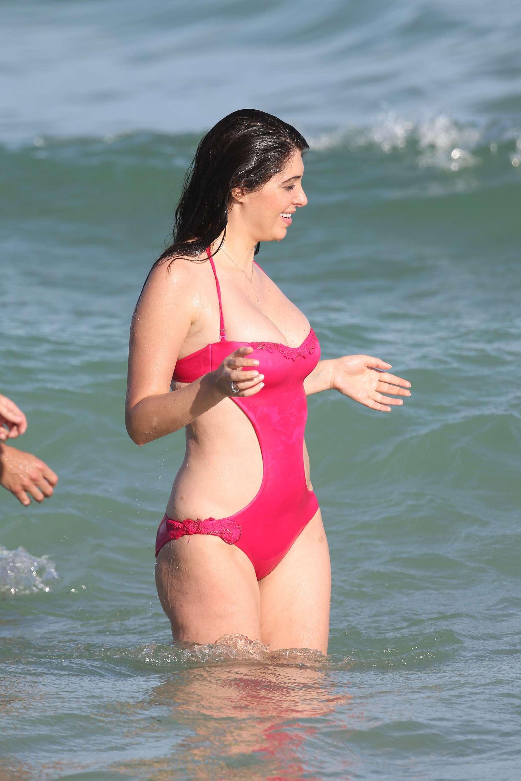 Brittny Gastineau Swimsuit Candids on Miami Beach