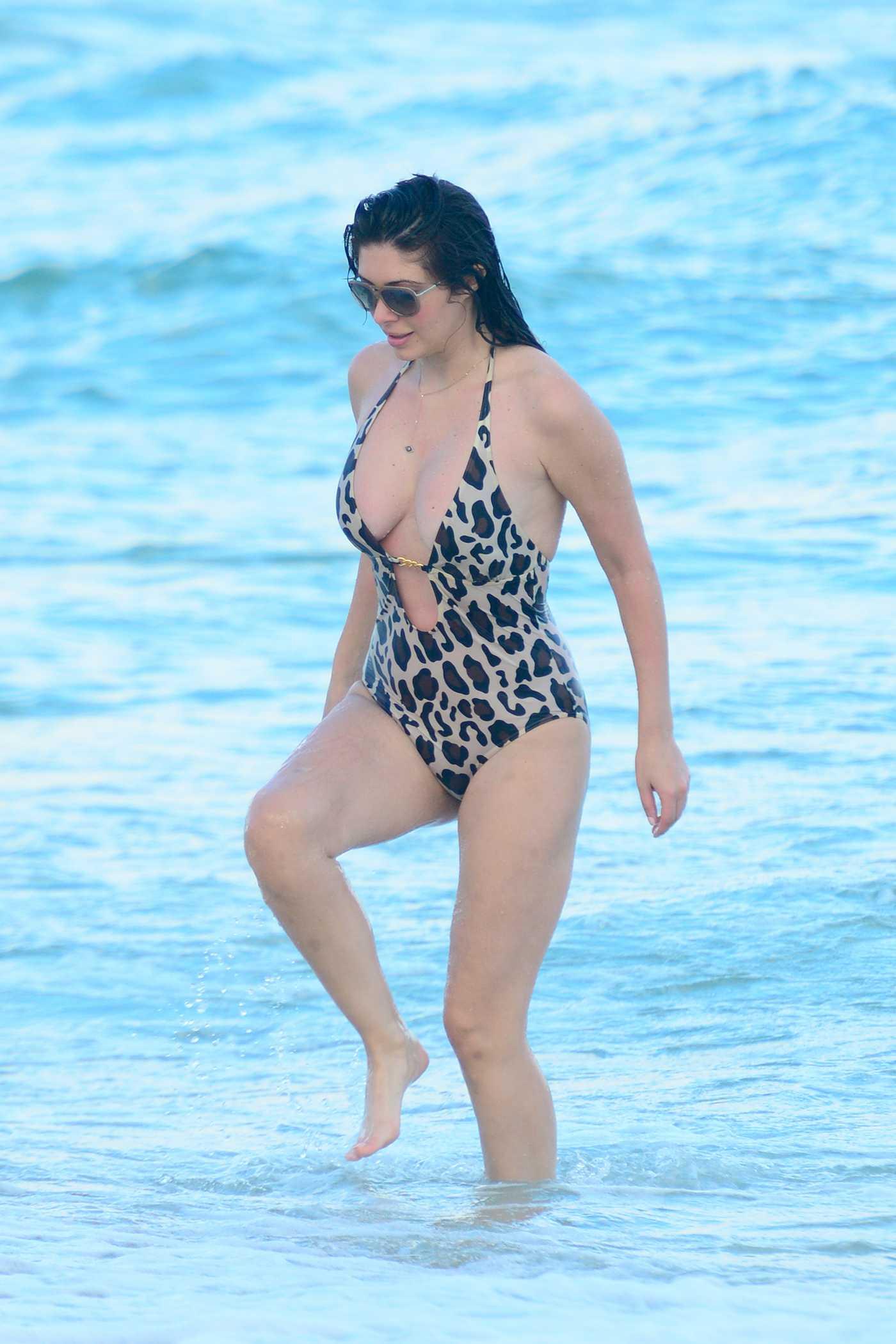Brittny Gastineau Wearing Bikini On the beach in Miami