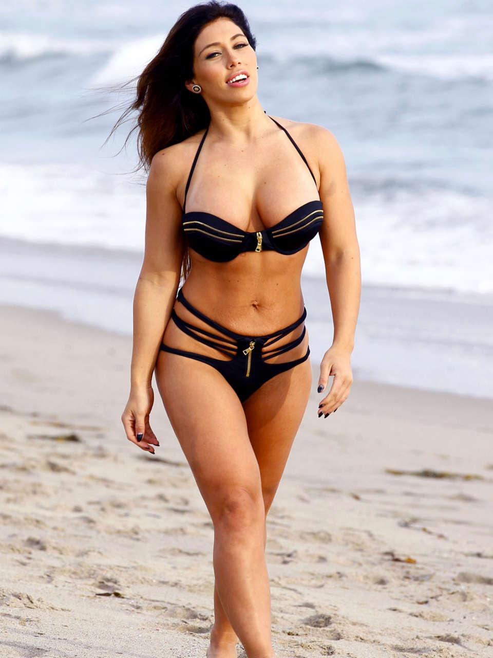 Carmen Ortega in a Bikini on the Beach in Santa Monica