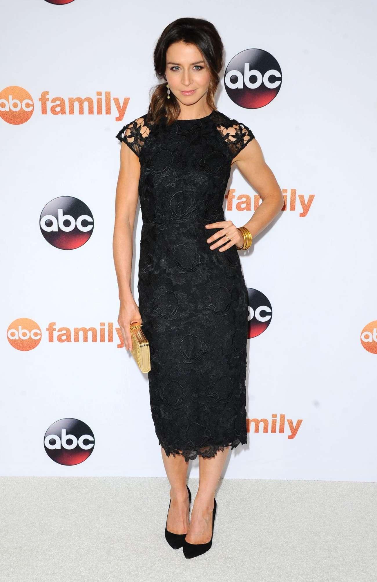 Caterina Scorsone Disney ABC Summer TCA Press Tour Photo Call in Beverly Hills