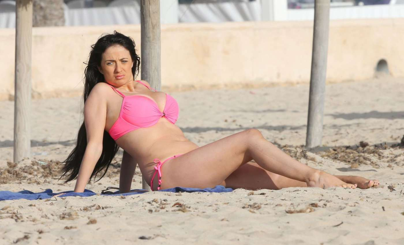 Chantelle Houghton Wearing Bikini on The Beach in Spain