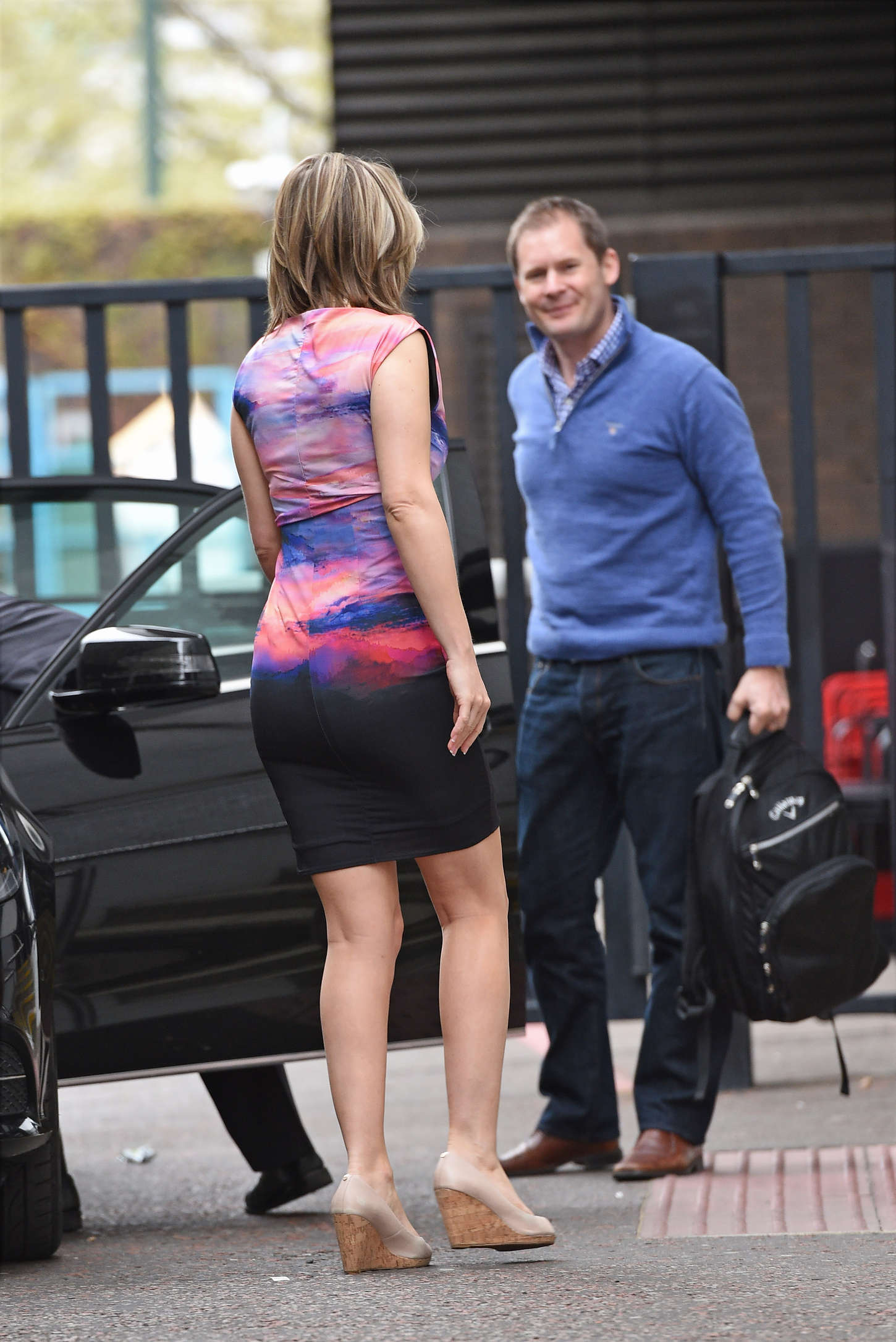 Charlotte Hawkins Leaving The London Studios