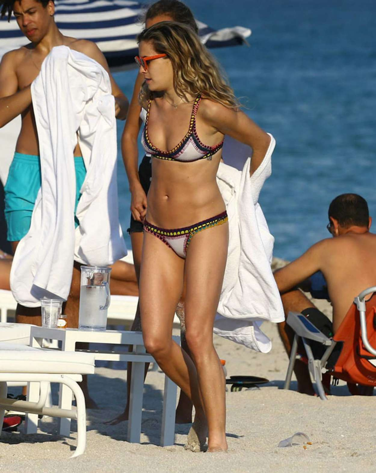 Chelsea Leyland Wearing Bikini in Miami