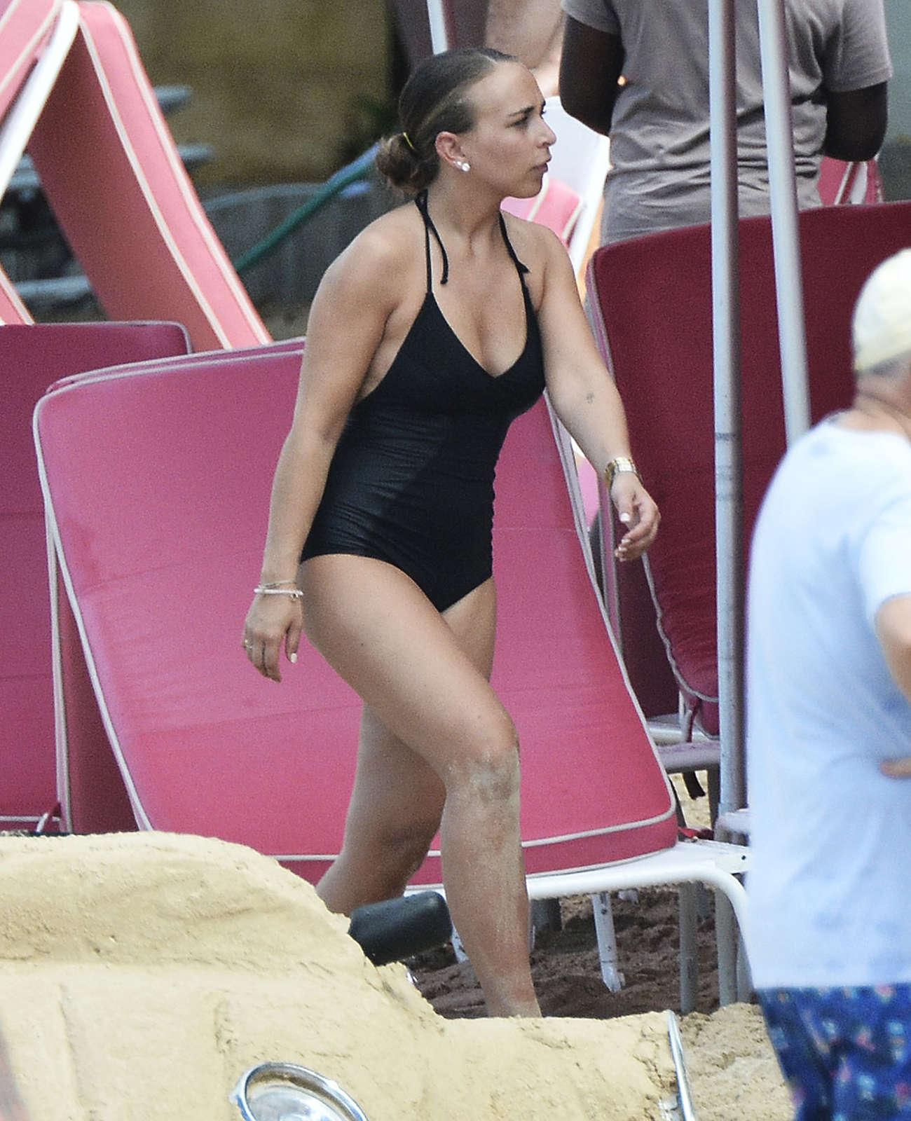 Chloe Green Wearing Swimsuit in Barbados