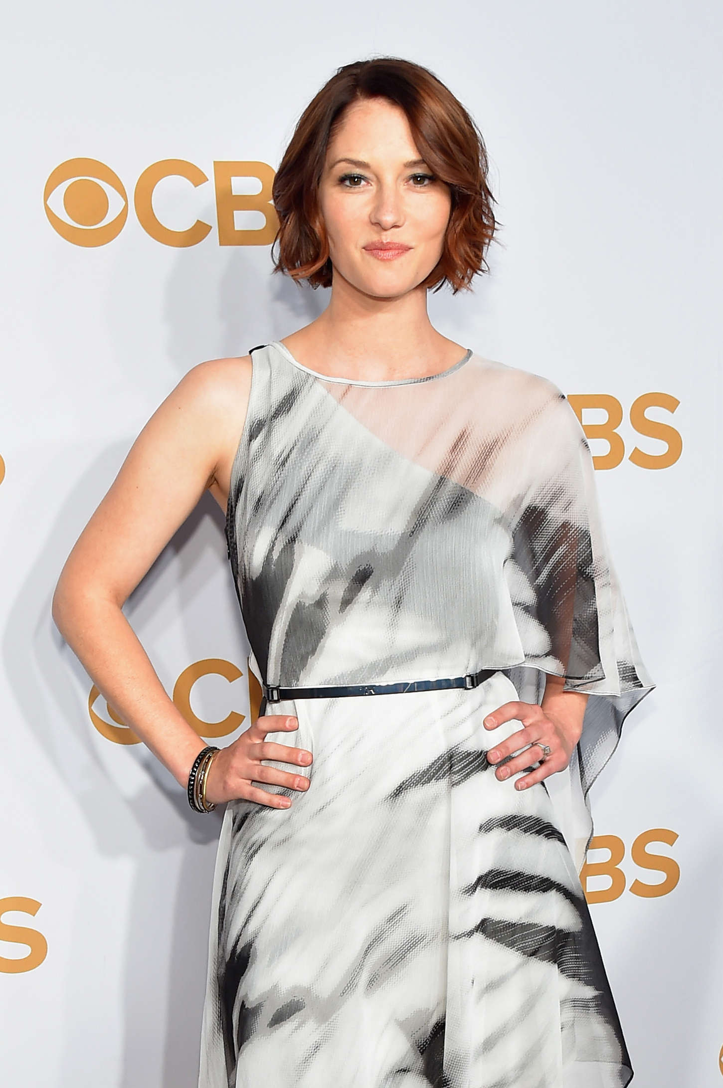 Chyler Leigh CBS Upfront in New York