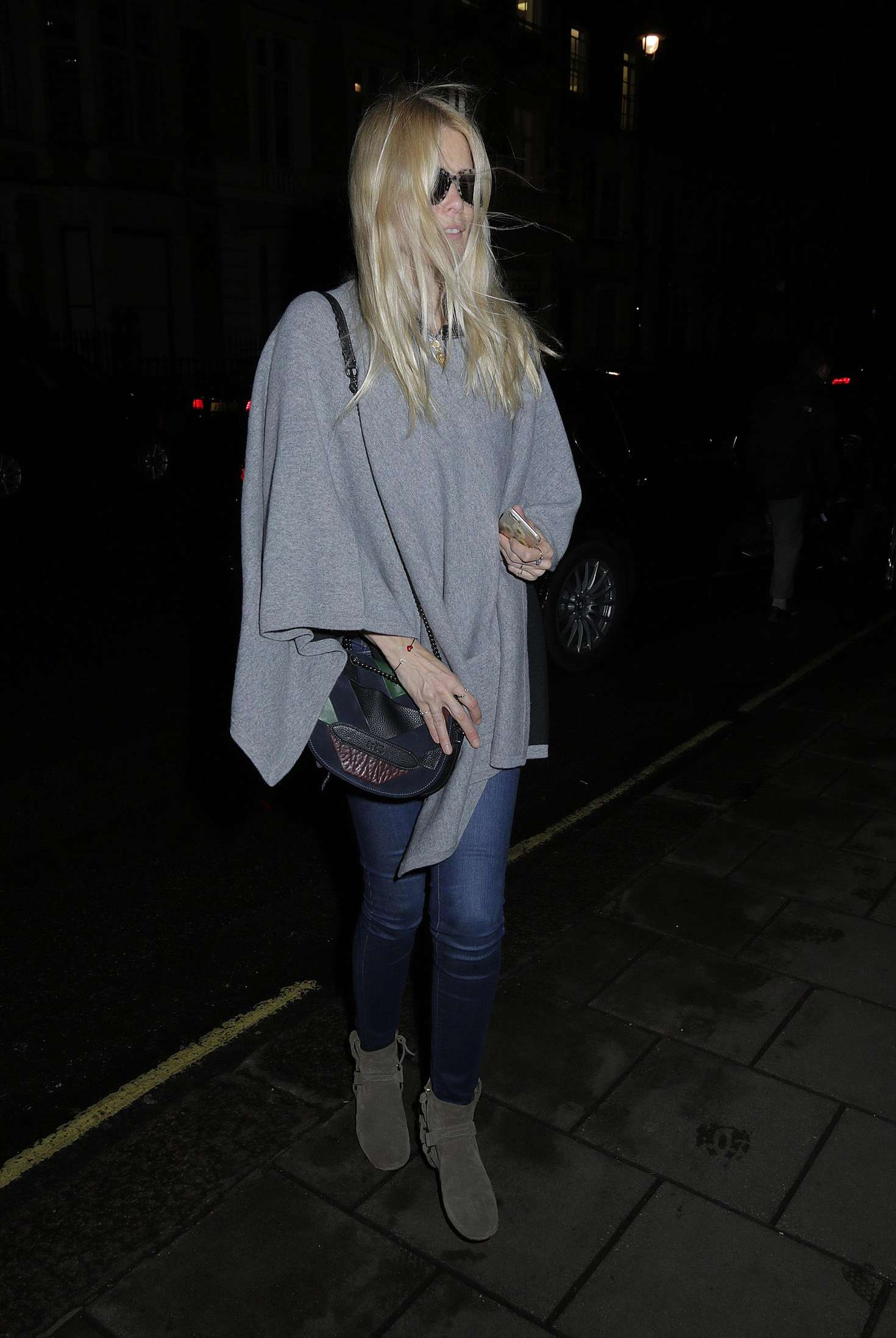 Claudia Schiffer at Nobu Restaurant in London
