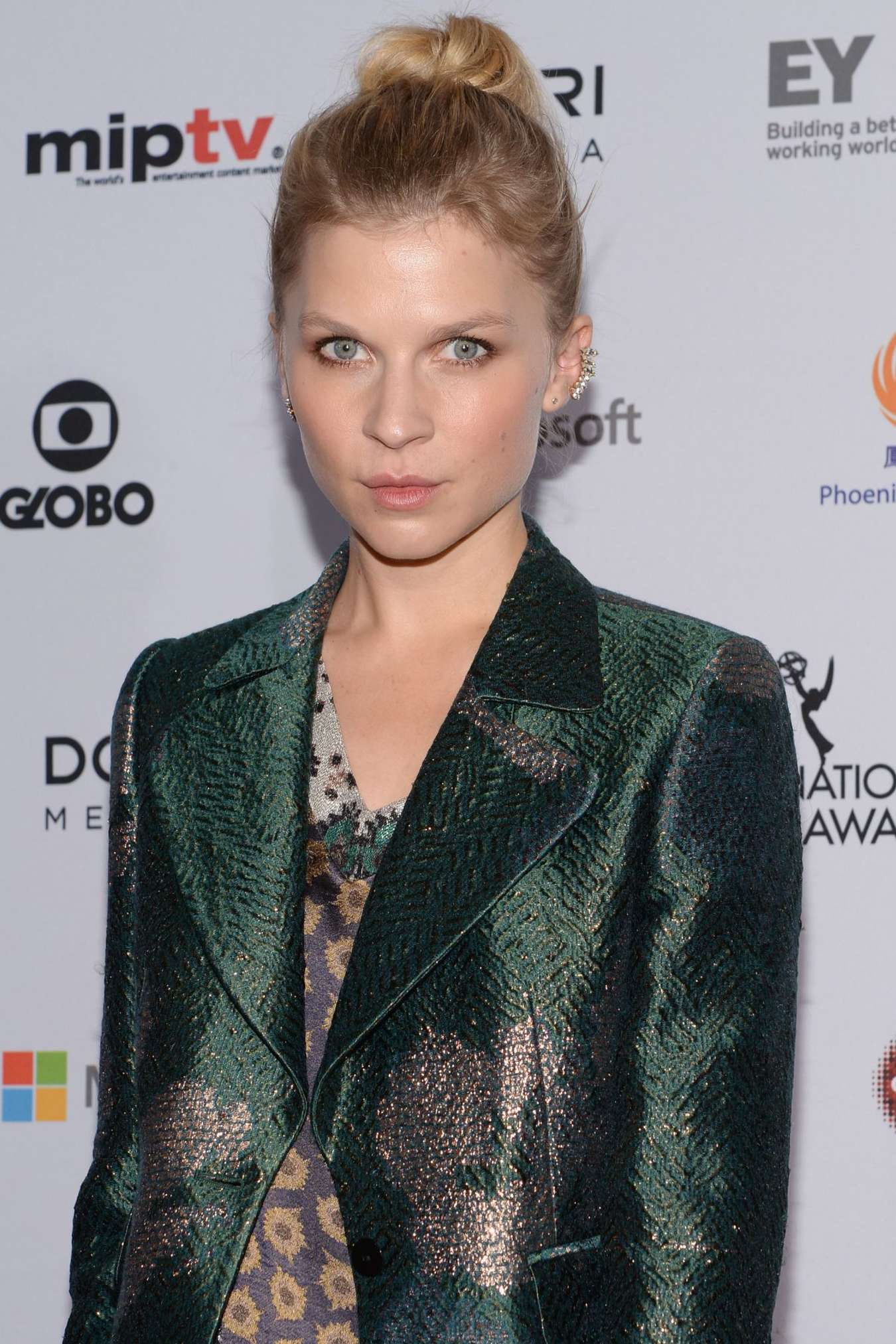 Clemence Poesy International Academy Of Television Arts Sciences Emmy Awards in New York