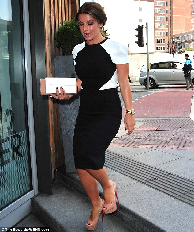 Coleen Rooney Arriving at The Manchester House Restaurant