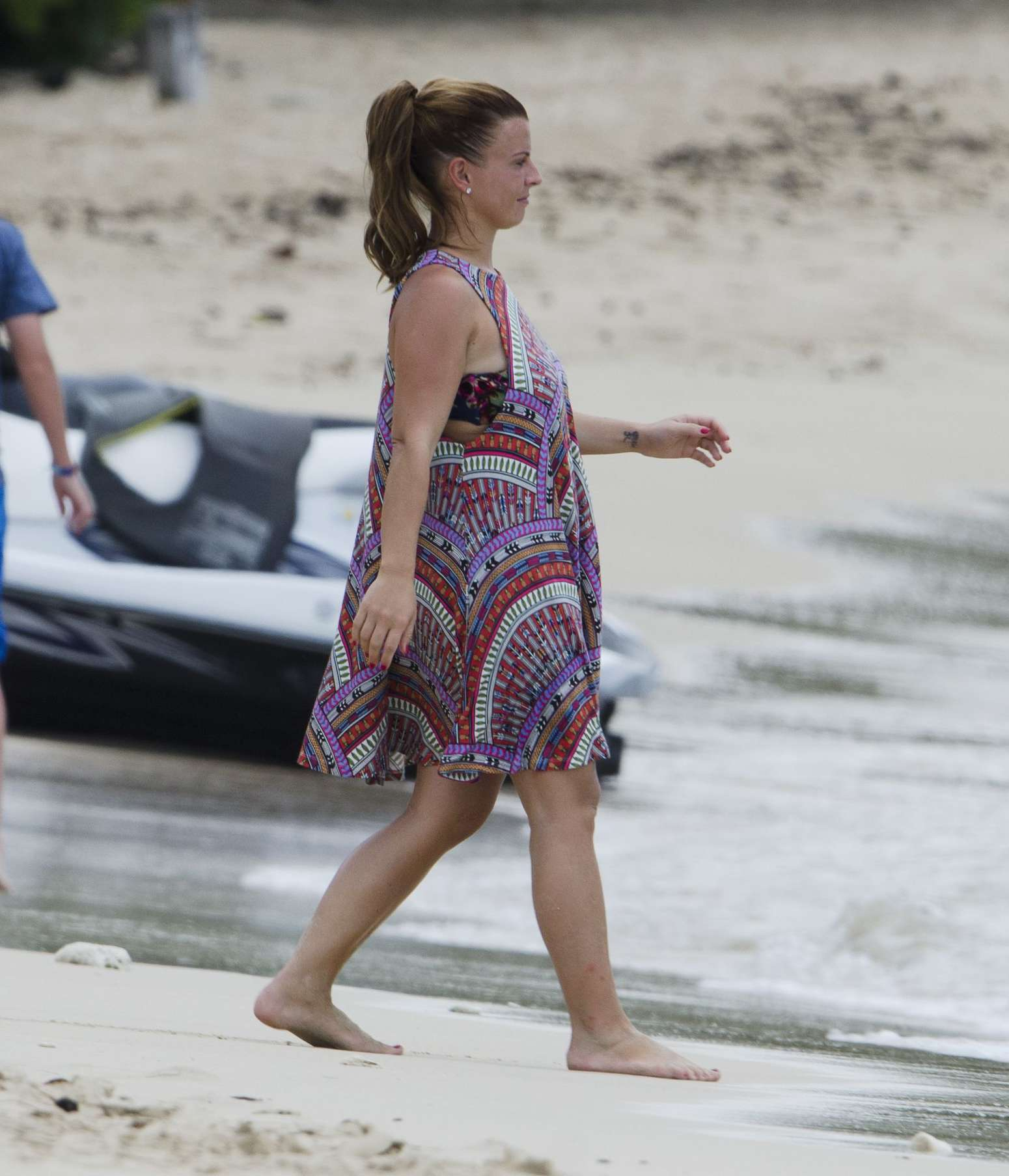 Coleen Rooney Wearing Bikini on the beach while in Barbados