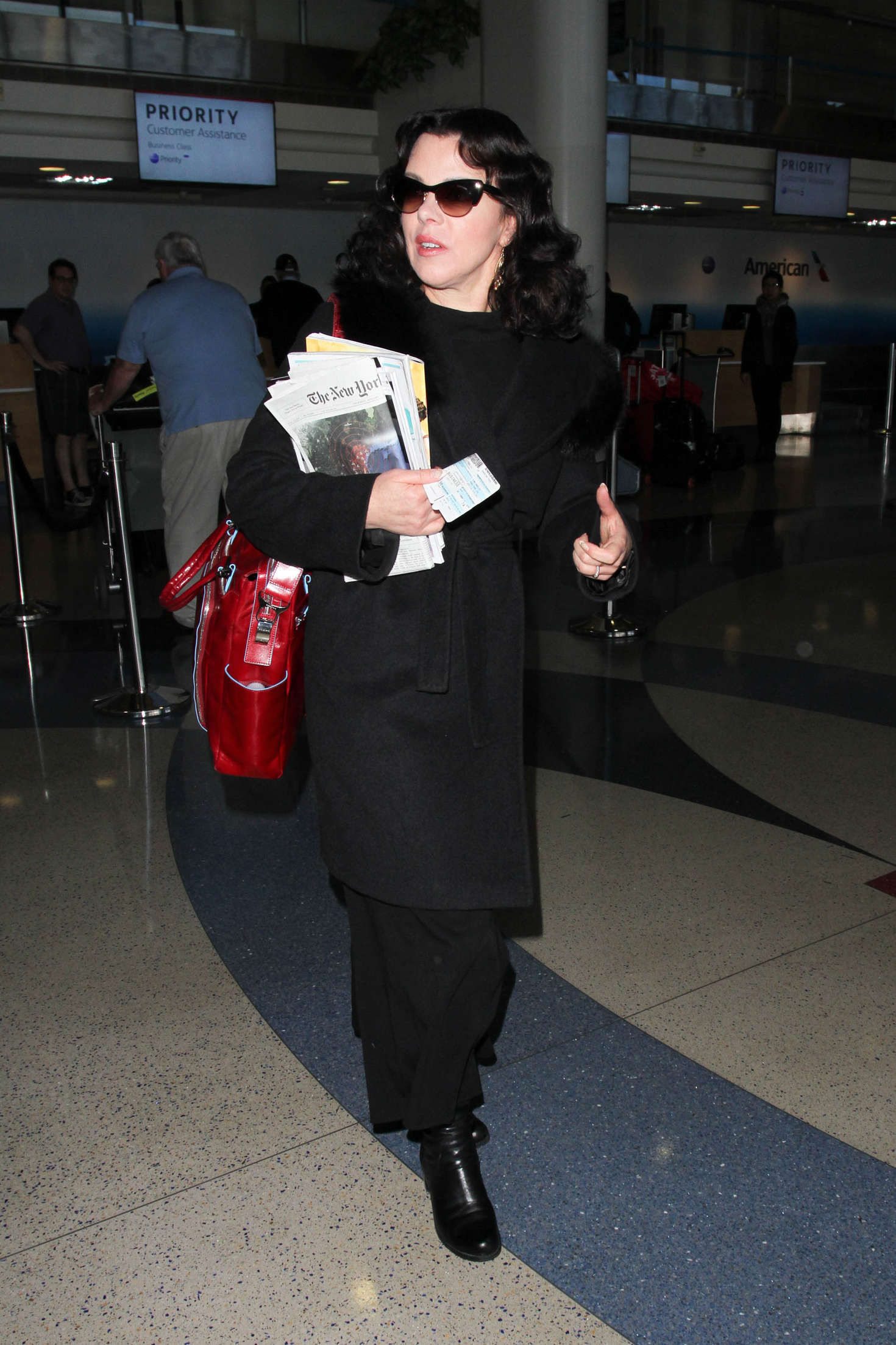 Debi Mazar at Los Angeles International Airport