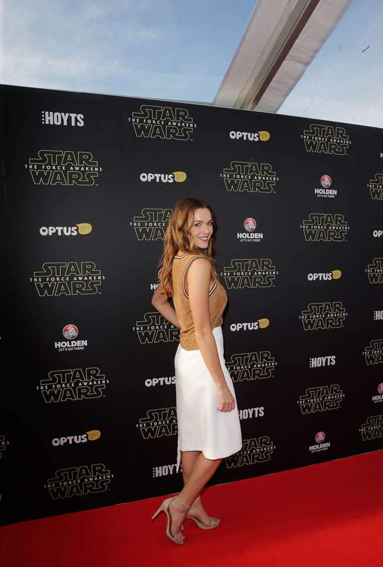 Demi Harman Star Wars The Force Awakens Premiere in Sydney