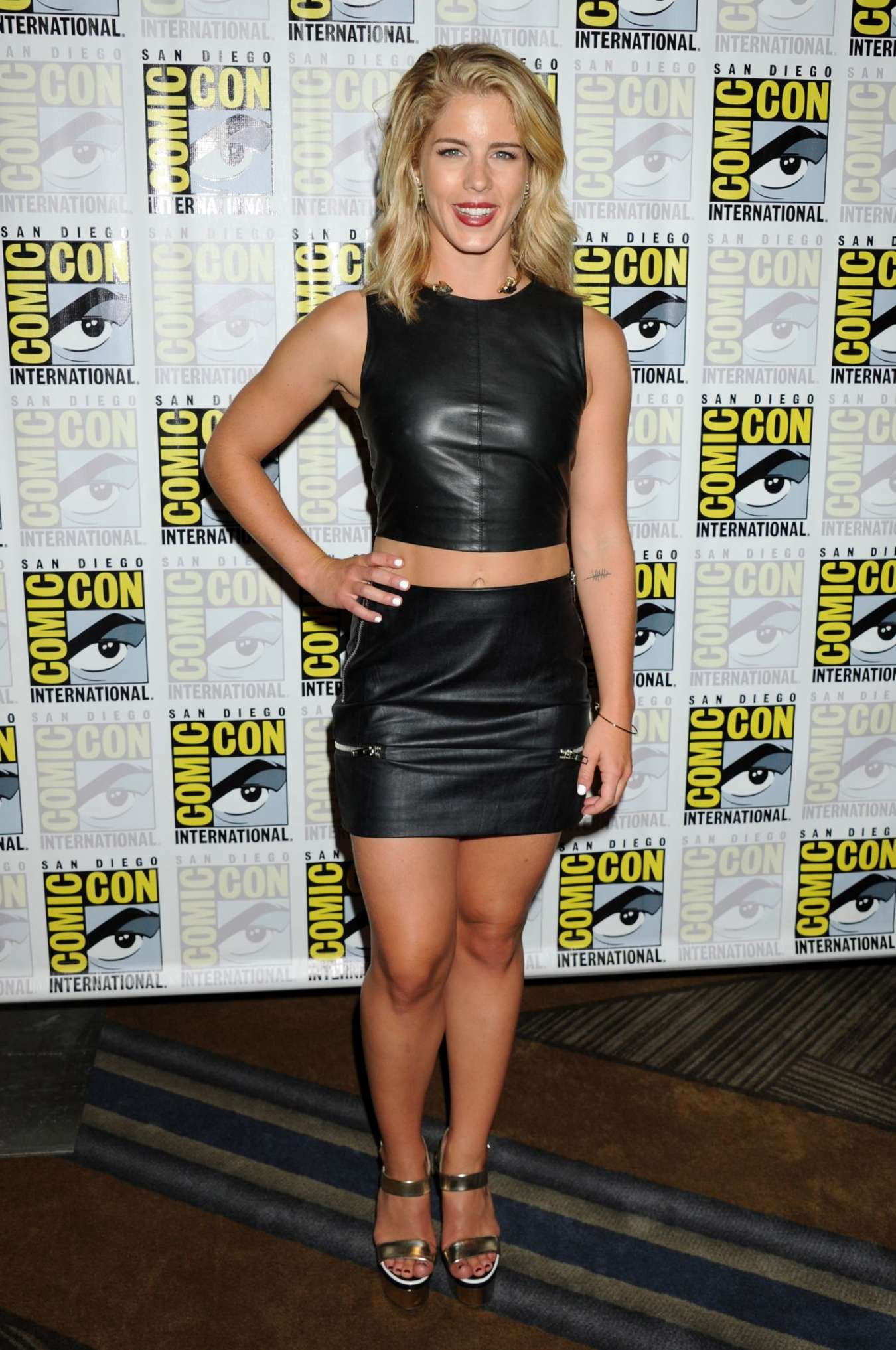 Emily Bett Rickards Arrow Press Line at Comic Con in San Diego