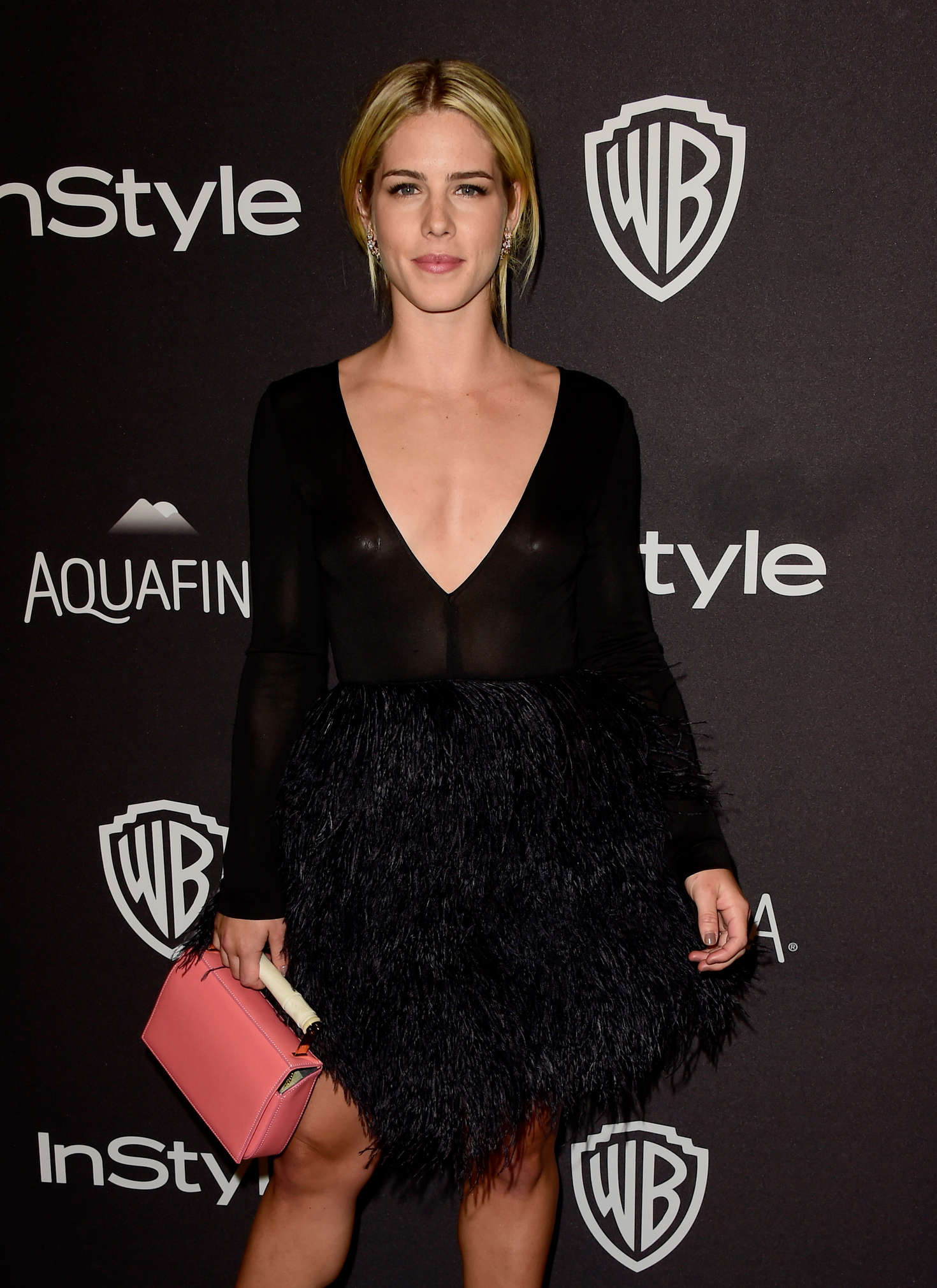 Emily Bett Rickards InStyle and Warner Bros Golden Globe Awards Post-Party in Beverly Hills