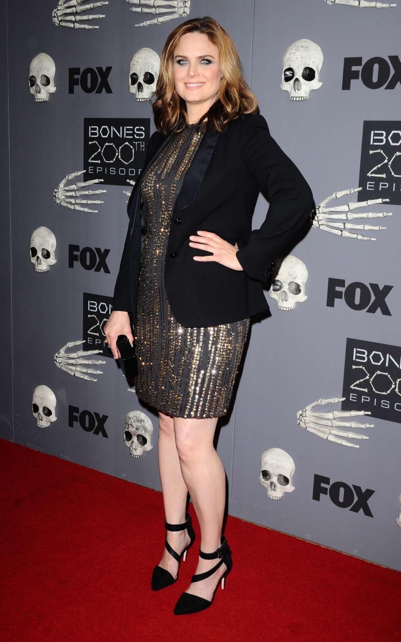 Emily Deschanel Bones Episode Celebration in West Hollywood